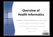 Overview of Health Informatics