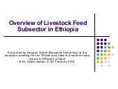 Overview of livestock feed supply i...
