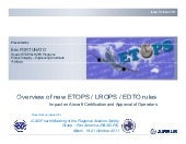 Overview of new etops lrops edto rules