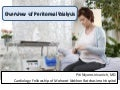 Overview of peritoneal dialysis