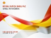 Shell In Nigeria & SPDC JV Overview