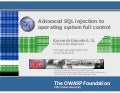 Advanced SQL injection to operating system full control (short version)