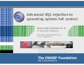 Advanced SQL injection to operating...
