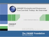 OWASP Overview of Projects You Can ...