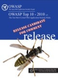 OWASP Top 10 (2010 release candidate 1)
