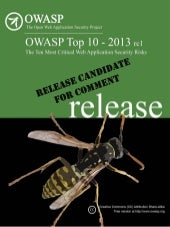 Owasp top 10   2013 - rc1