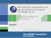 OWASP Top 10 And Insecure Software ...