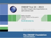 Owasp Top10 Spanish