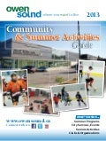Owen Sound Summer Activities Guide 2013