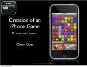 Creation of an iPhone Game