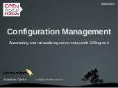 Configuration management: automatin...