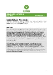 Oxfam media brief,Expectativas Frus...