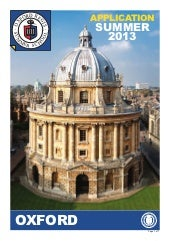 Oxford Summer School Application