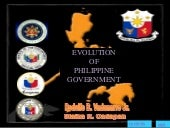 EVOLUTION OF PHILIPPINE GOVERNMENT