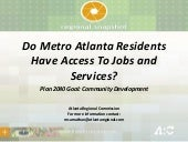 Do Metro Atlanta Residents Have Acc...