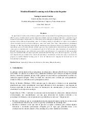 "Paper """"modelos blended learning en..."
