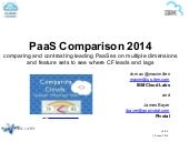 Cloud Foundry Compared With Other PaaSes (Cloud Foundry Summit 2014)