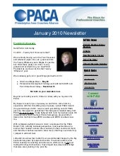 PACA January Newsletter