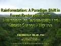 MINDANAO COURSE - Rainforestation: A Paradigm Shift in Forest Restoration in the Philippines for Sustainability and Climate Change Mitigation / Paciencia P. Milan