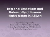 Regional Limitations and Universali...