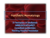 Paediatric hematology