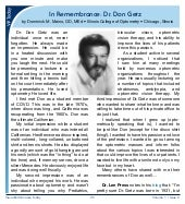 Honoring Dr. Don Getz