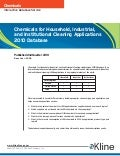 Chemicals for Household, Industrial, and Institutional Cleaning Applications 2009 Database
