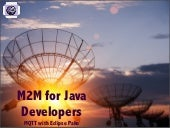 Eclipse Democamps 2013 - M2M for Ja...