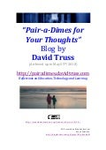 Pairadimes for Your Thoughts | David Truss Blog Archive 05-25-2010