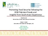 Promoting Food Security following t...