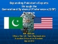 US Generalized System of Preferences (GSP) Program for Pakistan