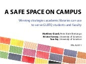 A Safe Space on Campus: Winning Str...