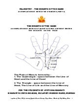 Palmistry   the mounts of the hand ...