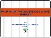 Palm oil in the global oils & fats ...