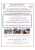 Yoga therapy courses at CYTER in Sri Balaji Vidyapeeth