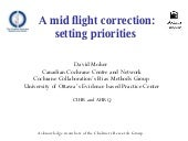 A mid flight correction: setting priorities