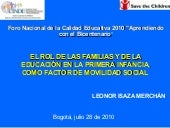 "Leonor Isaza: ""Save the children y ..."