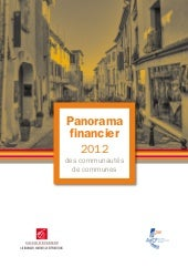 Panorama financier 2012 des commune...