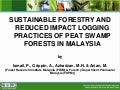 Sustainable Forestry And Reduced Impact Logging Practices of Peat Swamp Forests In Malaysia