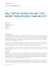 Will Twitter change the way that ma...