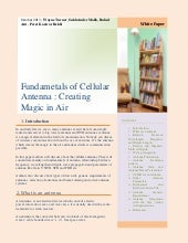 Fundamentals of cellular antenna cr...