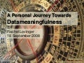 Journey Towards Datameaningfulness
