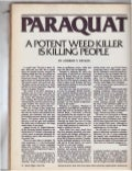 Paraquat - A Potent Weedkiller is Killing People (1983, Science Digest)