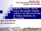Parental Choice, Social Class And M...