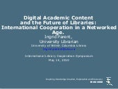 Presentation by Ingrid Parent: Digi...