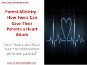 Parent Ministry - How Teens Can Giv...