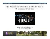 The Philosophy of Information and t...