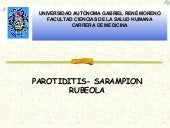 Parotiditis sarampion rubeola