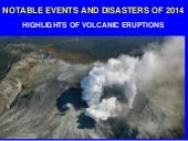 Part 2.  Notable Disasters of 2014:  Volcanic Eruptions