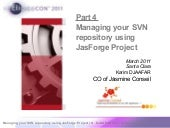 Part 4  - Managing your svn reposit...